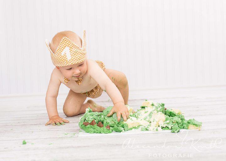 Smash the Cake, Aljoscha! Tortenshooting zum 1. Geburtstag